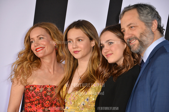 Leslie Mann, Maude Apatow, Iris Apatow &amp; Judd Apatow at the premiere for &quot;Blockers&quot; at the Regency Village Theatre, Los Angeles, USA 03 April 2018<br /> Picture: Paul Smith/Featureflash/SilverHub 0208 004 5359 sales@silverhubmedia.com