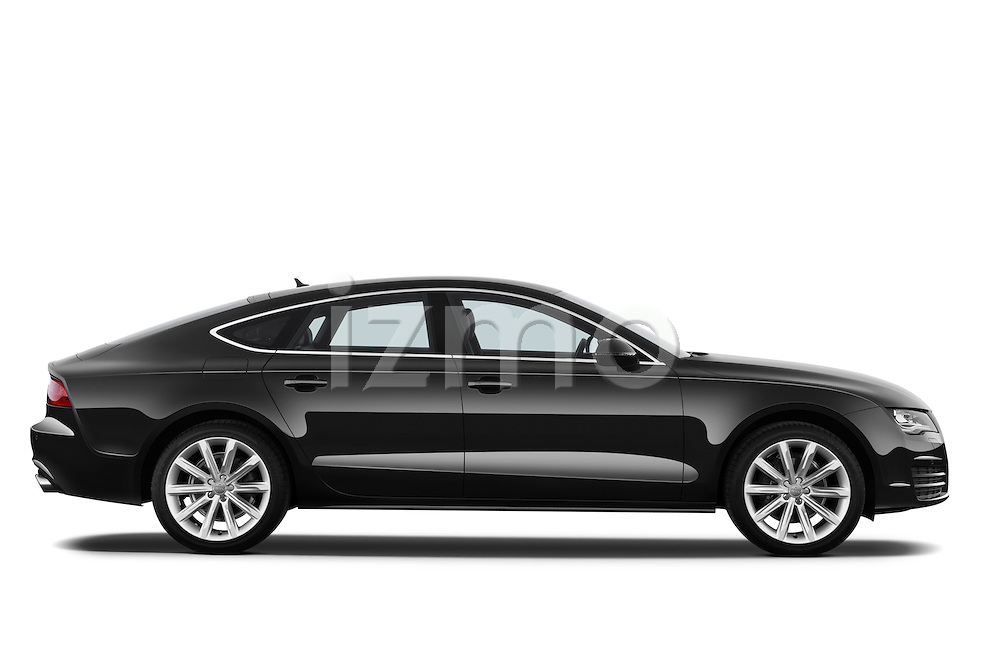 Passenger side profile view of a 2013 Audi A7 Hatchback.