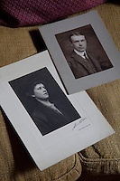 Portraits of Claude and Margaret Biddulph who commissioned the house in the early 1900s