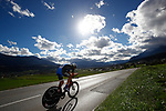 Norman Vahtra (EST) in action during the Men's Under-23 Individual Time Trial of the 2018 UCI Road World Championships running 20km around Innsbruck, Innsbruck-Tirol, Austria 2018. 24th September 2018.<br /> Picture: Innsbruck-Tirol 2018/Jan Hetfleisch | Cyclefile<br /> <br /> <br /> All photos usage must carry mandatory copyright credit (&copy; Cyclefile | Innsbruck-Tirol 2018/Jan Hetfleisch)