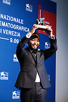 VENICE, ITALY - SEPTEMBER 09: Eugene YK Chung poses with the Best VR Award for 'Arden's Wake (Expanded)' at the Award Winners photocall during the 74th Venice Film Festival at Sala Casino on September 9, 2017 in Venice, Italy. ()<br /> CAP/MPI/AF<br /> &copy;AF/MPI/Capital Pictures