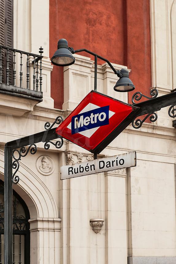 La Latina metro stop, Madrid, Spain