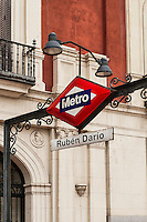 La Latina metro stop, Madrid, Spain