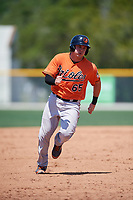 Baltimore Orioles Jerry McClanahan (65) runs the bases during a minor league Spring Training game against the Tampa Bay Rays on March 29, 2017 at the Buck O'Neil Baseball Complex in Sarasota, Florida.  (Mike Janes/Four Seam Images)