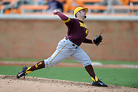 Arizona State Sun Devils pitcher Alex Blackford #47 delivers a pitch during a game against  the Tennessee Volunteers at Lindsey Nelson Stadium on February 23, 2013 in Knoxville, Tennessee. The Volunteers won 11-2.(Tony Farlow/Four Seam Images).