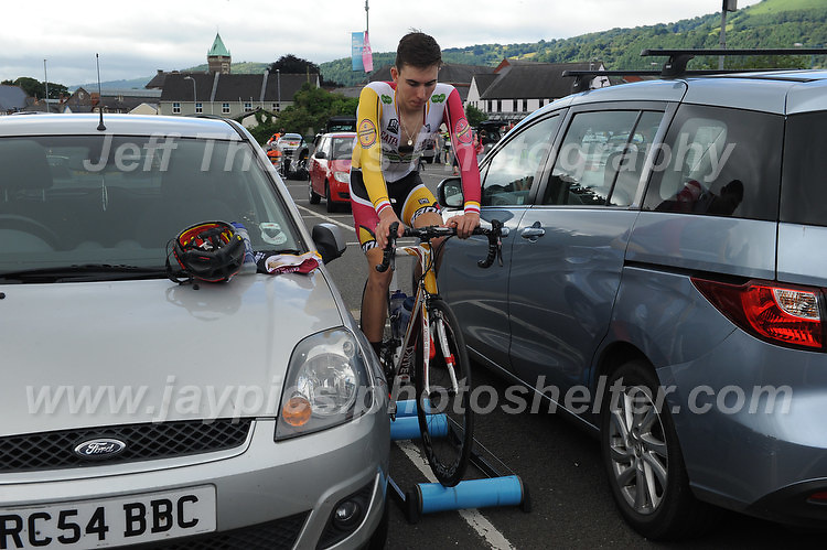 """A pre race warm up during the Abergavenny Festival of Cycling """"Grand Prix of Wales"""" race on Sunday 17th 2016<br /> <br /> <br /> Jeff Thomas Photography -  www.jaypics.photoshelter.com - <br /> e-mail swansea1001@hotmail.co.uk -<br /> Mob: 07837 386244 -"""