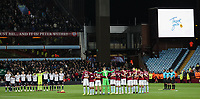 Bolton Wanderers'  and Aston Villa's players pay their respects to members of the armed forces<br /> <br /> Photographer Andrew Kearns/CameraSport<br /> <br /> The EFL Sky Bet Championship - Aston Villa v Bolton Wanderers - Friday 2nd November 2018 - Villa Park - Birmingham<br /> <br /> World Copyright &copy; 2018 CameraSport. All rights reserved. 43 Linden Ave. Countesthorpe. Leicester. England. LE8 5PG - Tel: +44 (0) 116 277 4147 - admin@camerasport.com - www.camerasport.com