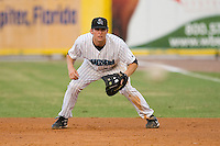 First baseman Ben Lasater #29 of the Jupiter Hammerheads on defense against the Charlotte Stone Crabs at Roger Dean Stadium June 15, 2010, in Jupiter, Florida.  Photo by Brian Westerholt /  Seam Images