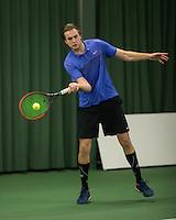 Rotterdam, Netherlands, Januari 28, 2017, ABNAMROWTT, Clubkampioenen, Christian Heinerman/Rene de Haan<br /> Photo: Tennisimages/Henk Koster
