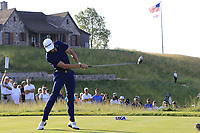Kevin Dougherty (USA) tees off the 1st tee to start his match during Thursday's Round 1 of the 117th U.S. Open Championship 2017 held at Erin Hills, Erin, Wisconsin, USA. 15th June 2017.<br /> Picture: Eoin Clarke | Golffile<br /> <br /> <br /> All photos usage must carry mandatory copyright credit (&copy; Golffile | Eoin Clarke)