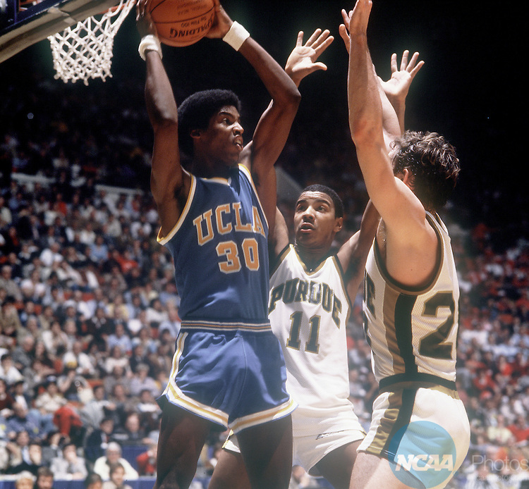 22 MAR 1980:  UCLA's Darren Daye (30) finds himself boxed in by Purdue's defense during the NCAA Men's National Basketball Final Four semifinal game in Indianapolis, IN at the Market Square Arena. UCLA defeated Purdue 67-62. Rich Clarkson/NCAA Photos