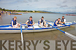 The Caherdaniel U14 Crew at the Ballinskelligs Regatta on Sunday Ben O'Carroll, Jordan O'Sullivan, Iarla O'Shea, Leon O'Farrell and Cox Peter Hussey, the race was won by Ballinskelligs, 2ns Portmagee & 3rd Sneem(The Swallows).