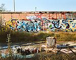 Graffiti Artist, West Side Gallery, Berlin, Germany, August 2004