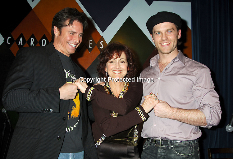 Dan Gauthier, Robin Strasser and Trevor St John..at The Launch of the One Life, Many Voices CD, ..which is a 26 Track compilation CD,comprised of original ..material, covers and spoken word. It was produced and sung by actors who star on One Life To Live and will  benefit Hurricane Relief. The event was on January 11, 2006 at Caroline's Comedy Club...Photo by Robin Platzer, Twin Images