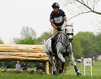 LEXINGTON, KY - April 29, 2017. #11 Cracker Jack and Boyd Martin from the USA finish in 10th place after competing in the Cross Country test at the Rolex Three Day Event at the Kentucky Horse Park.  Lexington, Kentucky. (Photo by Candice Chavez/Eclipse Sportswire/Getty Images)
