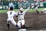 Kotaro Kiyomiya, AUGUST 13, 2015 - Baseball : Kotaro Kiyomiya of Waseda Jitsugyo runs to third base during the 97th Japanese High School Baseball Championship second round match Waseda Jitsugyo 7-6 Hiroshima Shinjo at Hanshin Koshien Stadium in Nishinomiya, Hyogo, Japan. (Photo by BFP/AFLO)