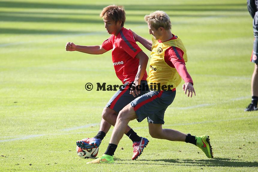 Stefan Aigner gegen Takashi Inui - Eintracht Frankfurt Training, Commerzbank Arena