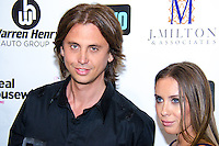 Jonathan Cheban and girlfriend, Anat Popovsky, attend Real Housewives of Miami Season 3 VIP Premiere Party, at Lou La Vie, Miami, FL, on August 6, 2013