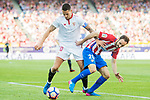 Juan Francisco Torres Belen, Juanfran, of Atletico de Madrid challenges Victor Machin Perez, Vitolo, of Sevilla FC during their La Liga match between Atletico de Madrid and Sevilla FC at the Estadio Vicente Calderon on 19 March 2017 in Madrid, Spain. Photo by Diego Gonzalez Souto / Power Sport Images