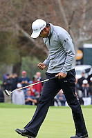 February 22, 2015: James Hahn defeats Dustin Johnson in a three hole playoff at the Northern Trust Open. Played at Riviera Country Club, Pacific Palisades, CA.