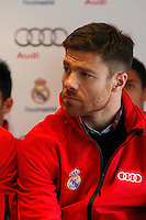 Real Madrid player Xabi Alonso participates and receives new Audi during the presentation of Real Madrid's new cars made by Audi at the Jarama racetrack on November 8, 2012 in Madrid, Spain.(ALTERPHOTOS/Harry S. Stamper) .<br /> &copy;NortePhoto