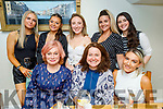 Enjoying the evening in Bella Bia on Friday<br /> Seated l to r: Edel Casey, Grainne Shepard and Shauna Nolan. Back l to r: Isabelle Curran, Cara O'Neil, Alisha Finnerty, Caitlin Nolan and Iona O'Neill.