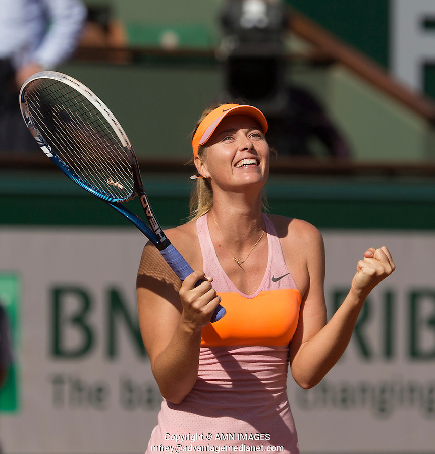 MARIA SHARAPOVA (RUS)<br /> <br /> Tennis - French Open 2014 -  Roland Garros - Paris -  ATP-WTA - ITF - 2014  - France -  5th June 2014. <br /> <br /> &copy; AMN IMAGES