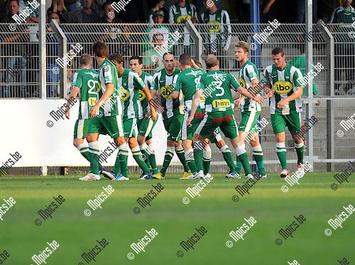 2012-08-22 / Voetbal / seizoen 2012-2013 / Rupel-Boom - Racing Mechelen / Mechelen viert de 1-1..Foto: Mpics.be