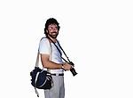 Robert Landau with camera circa 1970s