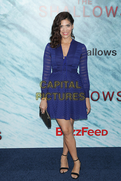 NEW YORK, NY - JUNE 21:  Laura Gomez  attends 'The Shallows' World Premiere at AMC Lincoln Square on June 21, 2016 in New York City. <br /> CAP/MPI99<br /> &copy;MPI99/Capital Pictures