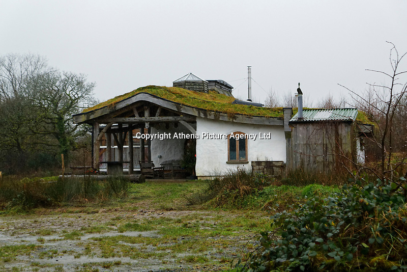 Pictured: One of the other properties in Lammas village. Friday 05 January 2017<br /> Re: A house that was featured in Channel 4 programme Grand Designs has been destroyed in a fire. The house, owned by Simon and Jasmine Dale is located at the Lammas Eco village near Glandwr in west Wales, UK.