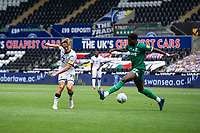 George Byers of Swansea City in action during the Sky Bet Championship match between Swansea City and Sheffield Wednesday at the Liberty Stadium in Swansea, Wales, UK. Sunday 05 July 2020