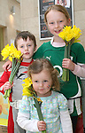 Mark, Rachel and Eva Berney on Daffoldil Day...Photo NEWSFILE/Jenny Matthews.(Photo credit should read Jenny Matthews/NEWSFILE)....This Picture has been sent you under the condtions enclosed by:.Newsfile Ltd..The Studio,.Millmount Abbey,.Drogheda,.Co Meath..Ireland..Tel: +353(0)41-9871240.Fax: +353(0)41-9871260.GSM: +353(0)86-2500958.email: pictures@newsfile.ie.www.newsfile.ie.FTP: 193.120.102.198.