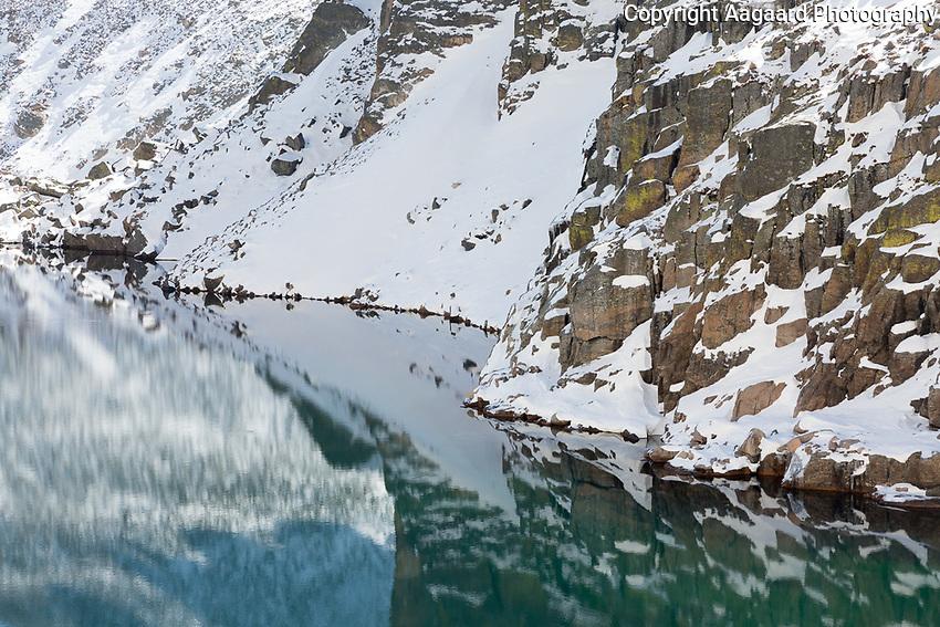Chasm Lake reflections, Long's Peak, Rocky Mountain National Park