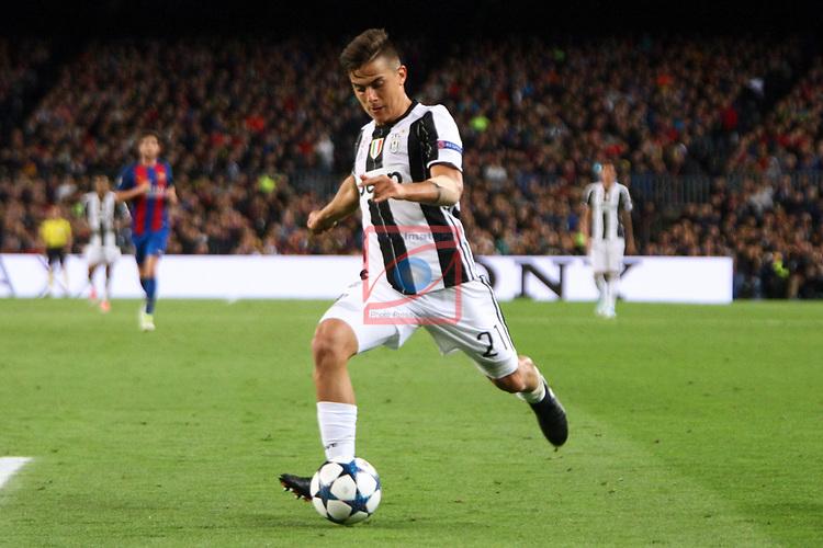 UEFA Champions League 2016/2017.<br /> Quarter-finals 2nd leg.<br /> FC Barcelona vs Juventus Football Club: 0-0.<br /> Paulo Dybala.