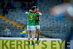 Mark Griffin and Paul O'Sullivan South Kerry celebrate after defeating Kerins O'Rahillys in the Kerry Senior Football Championship Semi Final at Fitzgerald Stadium on Saturday.