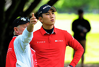 Seung-taek Oh (Korea) on day one of the 2017 Asia-Pacific Amateur Championship day one at Royal Wellington Golf Club in Wellington, New Zealand on Thursday, 26 October 2017. Photo: Dave Lintott / lintottphoto.co.nz