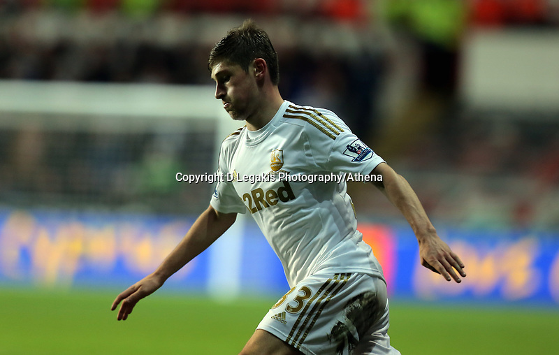 Sunday, 28 November 2012<br /> Pictured: Ben Davies.<br /> Re: Barclays Premier League, Swansea City FC v West Bromwich Albion at the Liberty Stadium, south Wales.