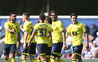 Blackburn Rovers' Danny Graham celebrates scoring his side's first goal <br /> <br /> Photographer Rob Newell/CameraSport<br /> <br /> The EFL Sky Bet Championship - Queens Park Rangers v Blackburn Rovers - Friday 19th April 2019 - Loftus Road - London<br /> <br /> World Copyright © 2019 CameraSport. All rights reserved. 43 Linden Ave. Countesthorpe. Leicester. England. LE8 5PG - Tel: +44 (0) 116 277 4147 - admin@camerasport.com - www.camerasport.com