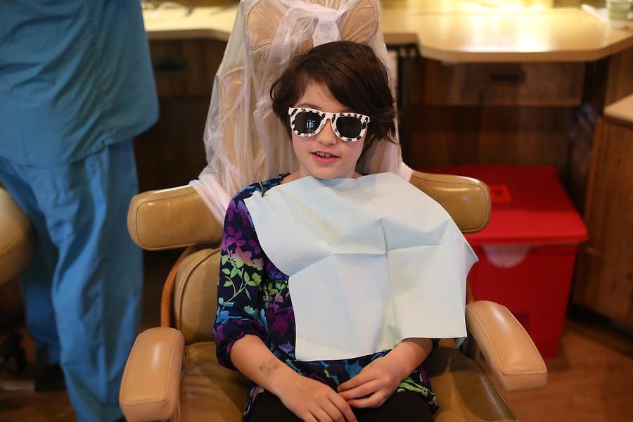 Ava at dentist in Charlottesville, Va. Photo/Andrew Shurtleff