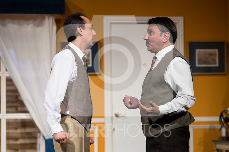 Victor Bened&eacute; and Jose Luis Gago at &quot;Usted puede ser un asesino&quot; Theater play in Mu&ntilde;oz Seca Theater, Madrid, Spain, September 07, 2015. <br /> (ALTERPHOTOS/BorjaB.Hojas)