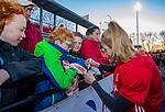 UTRECHT - keeper Alexandra Heerbaart (Ned)  na    de Pro League hockeywedstrijd wedstrijd , Nederland-China (6-0) . Heerbaart speelde haar eerste interland. COPYRIGHT  KOEN SUYK