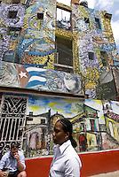 Cuba, Habana, Wandbilder auf der Callejon de Hamel