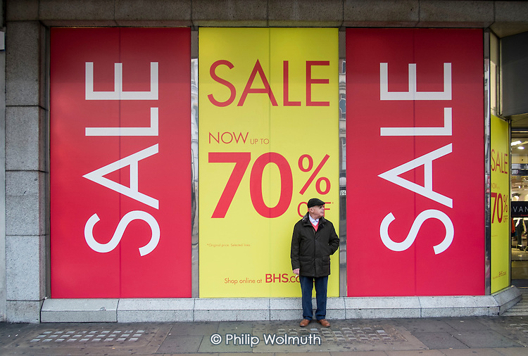 BHS, January sales, Oxford Street, London.