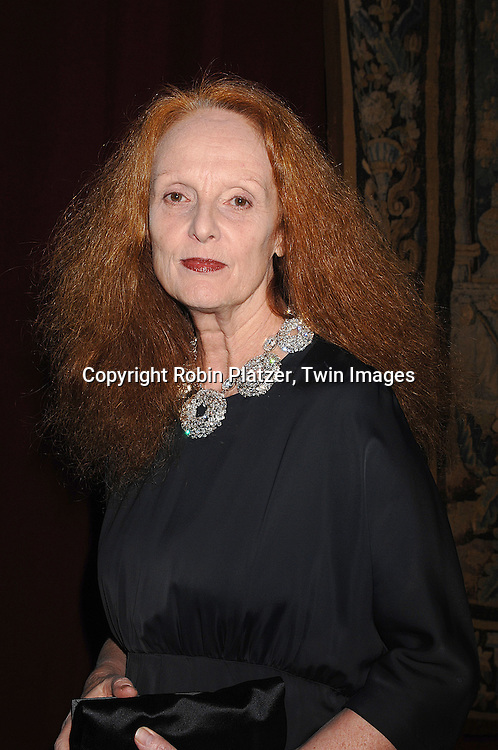 Grace Coddington..arriving at The 7th on Sale Black Tie Gala Dinner on ..November 15, 2007 at The 69th Regiment Armory in New York. The Fashion Industry's Battle Against HIV and AIDS..will benefit...Robin Platzer, Twin Images