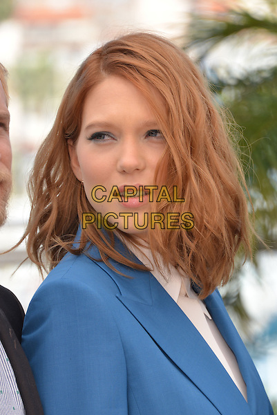 CANNES, FRANCE - MAY 17: Lea Seydoux attends the 'Saint Laurent' photocall during the 67th Annual Cannes Film Festival on May 17, 2014 in Cannes, France.<br /> CAP/PL<br /> &copy;Phil Loftus/Capital Pictures