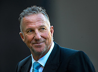 Skysport commentator Ian Botham during the ICC Cricket World Cup one day pool match between the New Zealand Black Caps and England at Wellington Regional Stadium, Wellington, New Zealand on Friday, 20 February 2015. Photo: Dave Lintott / lintottphoto.co.nz