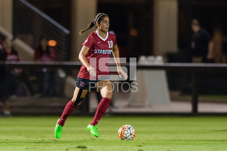 STANFORD, CA - October 8, 2015: Haley Rosen during the Stanford vs Oregon State women's soccer match in Stanford, California.  The Cardinal defeated the Beavers 3-0.