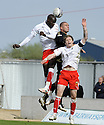 01/05/2010   Copyright  Pic : James Stewart.sct_jsp11_falkirk_v_st-mirren  .::  ENOCH SHOWUNMI GETS ABOVE MICHAEL HIGDON AND DARREN BARR ::  .James Stewart Photography 19 Carronlea Drive, Falkirk. FK2 8DN      Vat Reg No. 607 6932 25.Telephone      : +44 (0)1324 570291 .Mobile              : +44 (0)7721 416997.E-mail  :  jim@jspa.co.uk.If you require further information then contact Jim Stewart on any of the numbers above.........