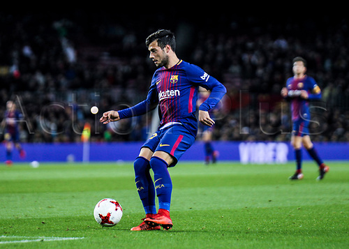 29th November 2017, Camp Nou, Barcelona, Spain; Copa Del Rey, Barcelona versus Real Murcia; Jose Arnaiz making his first appearance with FC Barcelona